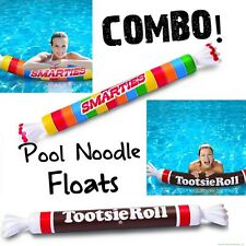 Smarties Candy & Tootsie Roll Inflatable Swimming Pool Noodles Float ~ COMBO!