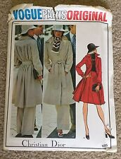 Vintage Uncut 1960's Vogue Paris Original Christian Dior Sewing Pattern #1095