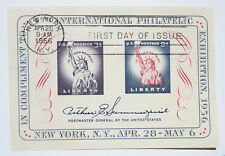 1956 3¢ and 8 ¢ Statue of Liberty Fifth International Philatelic Exhibition FIPE