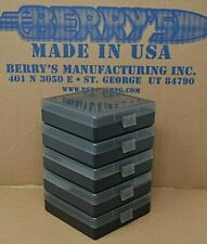 9 mm / 380 - (5) x 100 round ammo case / box (Smoke / Black) Berrys mfg 9 mm New