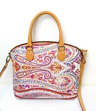 Etro Leather PVC Satchel Bag  Authentic  Gorgeous!!  Floral Paisley