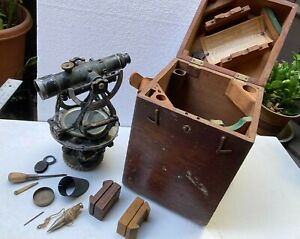 OLD / ANTIQUE GURLEY SURVEY TRANSIT VG COND. & EXTRAS  IN BOX  # 281134