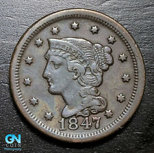 1847 Braided Hair Large Cent --  MAKE US AN OFFER!  #B3707
