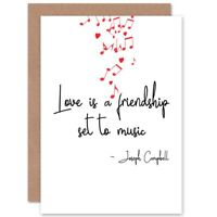 Love Is Music Valentines Blank Greeting Card With Envelope