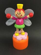 Fairy Princess Wooden Push Up Press Up Toy Pink Fairy Girl