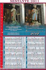 349 SANTINO HOLY CARD CALENDARIETTO 2012 SS. MEDICI COSMA E DAMIANO ALBEROBELLO