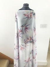 Birds of Paradise Floral & Flower Print Washed Chiffon Dress Fabric 1.8mts