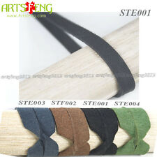 A+++STE001 5METERS BLACK SUEDE MAN-MADE LEATHER BRAID TSUKA-ITO