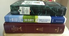 Lot Of 3 Religious Spiritual Christian (Woman's Study Bible NKJV version includ)