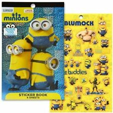 Minions 4 Sheet Foil Cover Sticker Pad (200 Stickers)