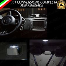 KIT LED INTERNI JEEP RENEGADE KIT COMPLETO + LED PARASOLE CANBUS 6000K NO AVARIA