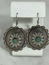 L. Blackgoat Navajo turquoise sterling silver earrings