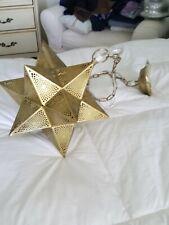 Brass Star Pendent Lighting Fixture