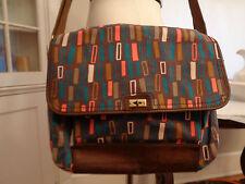 FOSSIL messenger laptop canvas bag multiple pockets