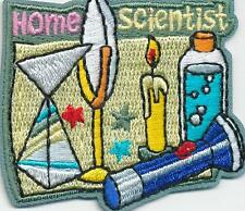 Girl Boy Cub HOME SCIENTIST Patches Crests Badge SCOUT GUIDE chemistry science