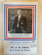 More details for 1963 french fa cup final - monaco v lyon - 12th may