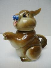 Vintage Shafford Bunny Rabbit Tea Pot Japan - Disney Bambi's Thumper