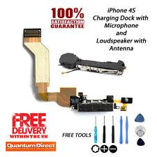 IPhone 4s Dock di ricarica di ricambio Montaggio + Microfono & Forte Speaker Nero
