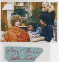 AUDRA LINDLEY signed cut index auto AUTOGRAPH Three's Company photo John Ritter