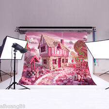 5X3FT Candy House Scenery Vinyl Photography Backdrop Background Gilr Studio Prop