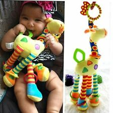 Newborn Baby Pram Bed Bells Stroller Hanging Toys Plush Animal Handbells Rattles