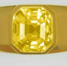 """24 CARATS GOLD  GRS CERTIFIED MEN""""S YELLOW SAPPHIRE RING NATURAL"""