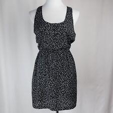 Womens Forever 21 Sz M Dress Summer Short Black & White Geometric Print Medium