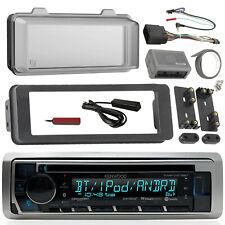 Scosche Harley 98-13 Adapter DIN Kit, Bluetooth CD Marine Kenwood Radio, Cover