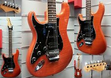 Fender custom shop stratocaster Deluxe | Sunset Orange | Floyd Rose | lefthand