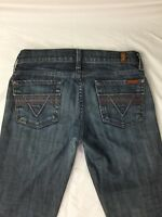7 For All Mankind Women's Roxanne Skinny Jeans Low Rise Medium Wash Size 25 x 32