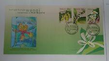 Royal Selangor Pewter Niobium Stamp FDC - 2001 Scented Flowers Bunga-bunga Wangi