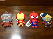 Marvel Monogram Collectors Keyrings x4 Star-Lord Set Movie/Comic Spider-man Iron