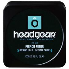 Headgear Mens 100g Fierce Fiber Strong Hold Resin with Natural Finish, new