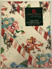 New NOS Vtg 80's CARE BEAR Paper Gift Christmas Wrap Sealed American Greetings