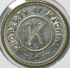 Token 1 Free Game - Property of Machine K 191924 combine shipping