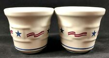 2 Longaberger Pottery All American Stars & Stripes Votive Candle Toothpick