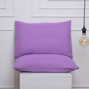 Waterproof Pillow Case Standard Size Solid Color Ultra Soft Pillow Cover 1/2 Pcs