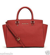 Michael Kors Bag 30S3GLMS2L MK Selma Saffiano Leather Medium Satchel Mandarin