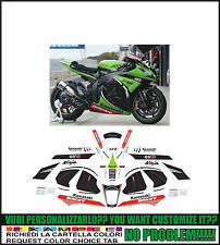 kit adesivi stickers compatibili  zx 10 r sbk 2013