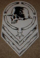 """METAL MULISHA White Helmet Chevron Skate Sticker 12"""" motocross skateboard decal"""