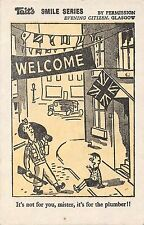 POSTCARD  COMIC  WWII  TAIT'S  SMILE Series  Army  Welcome....