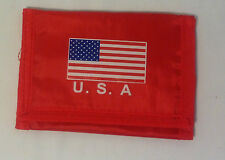 "Womens Purse American Flag Wallet Card Slots Tri-Fold Nylon New, 4.5"" X 3.25"""