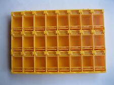 2 pcs SMD SMT Electronic Component Mini Storage Box 24 Blocks Grid Orange T156