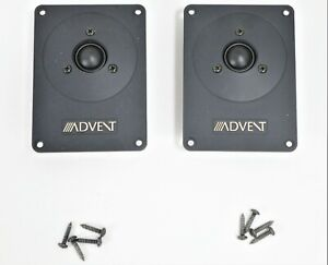 Pair Advent Advent Prodigy Tweeters 99-20107 w/ Mounting Screws              E2