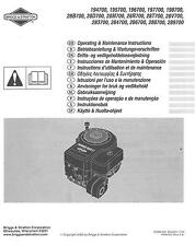 BRIGGS & STRATTON ENGINE 194700 195700 196700 283700 288700 289700 OPS manuale