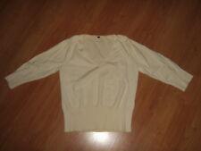 *H&M Divided Pullover Gr. L natur V-Ausschnitt*