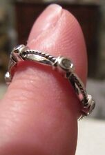 14Kt White Gold Diamond Band Ring- 6 Rd. Dias.-Sz 6.5 Or 6.75, Stamped