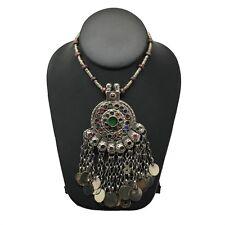 Handmade Vintage Afghan Tribal Kuchi Fashion Chained Jingle Necklace,KN288