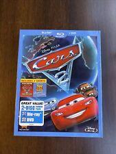 Cars 2 (Blu-ray/DVD, 2011, 2-Disc Set) W/ Slipcover