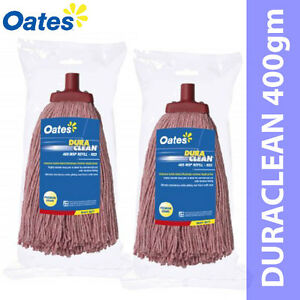 Only $38.50 for OATES DURACLEAN 400gm MOP HEAD Red Colour 2 Sets